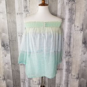 NEW Gypsy 05 Ceres Turquoise Smocked Silk Top